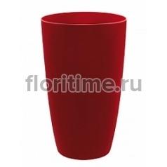 Кашпо Elho Brussels® diamond round high lovely red, красного цвета диаметр - 22 см высота - 32 см