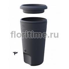 Кашпо Elho Green basics rainbarrel black, чёрного цвета диаметр - 61 см высота - 106 см