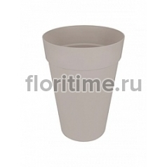 Кашпо Elho Loft urban warm grey, серого цвета round high диаметр - 34 см высота - 46 см