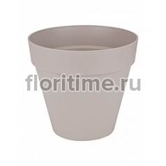Кашпо Elho Loft urban warm grey, серого цвета round with wheels диаметр - 49 см высота - 44 см