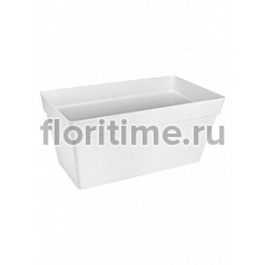 Кашпо Elho Loft urban white, белого цвета terrace with wheels длина - 69 см высота - 32 см