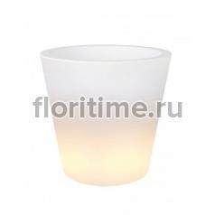 Светящееся Кашпо Elho Pure® straight led light transparant диаметр - 59 см высота - 80 см