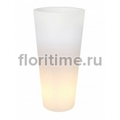 Светящееся Кашпо Elho Pure® straight round high led light transparent диаметр - 39 см высота - 80 см