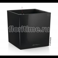 Кашпо Lechuza Cube, черный