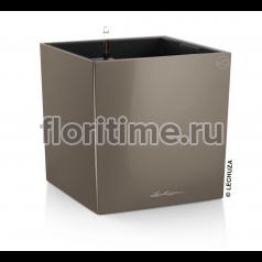 Кашпо Lechuza Cube, Серо-коричневый
