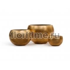 Кашпо Metal полусфера: сусальное золото