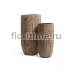 Кашпо Effectory Wood высокий округлый конус : светлый дуб