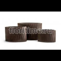 Кашпо Ergo Wood циллиндрический эллипс : венге