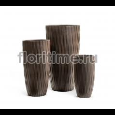 Кашпо Ergo Wood высокий закругленный конус : венге