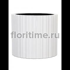 Кашпо Capi lux vase cylinder iii stripes white