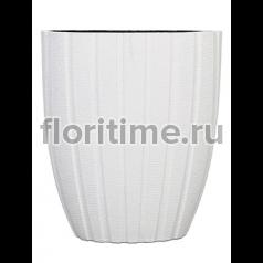 Кашпо Capi lux pot oval arc iii white