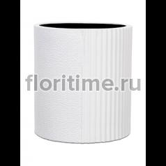 Кашпо Capi lux vase cylinder ii split white