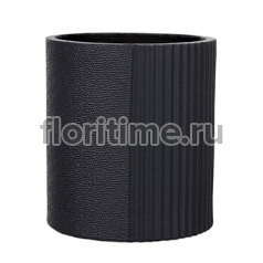 Кашпо Capi lux vase cylinder i split anthracite