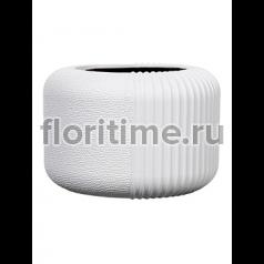 Кашпо Capi lux vase round i split white