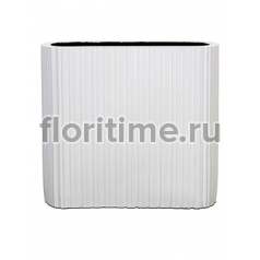 Кашпо Capi lux vase ellips iii stripes white
