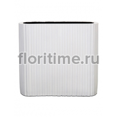 Кашпо Capi lux vase ellips ii stripes white