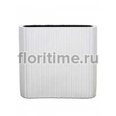 Кашпо Capi lux vase ellips i stripes white