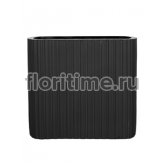 Кашпо Capi lux vase ellips iii stripes anthracite