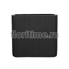Кашпо Capi lux vase ellips ii stripes anthracite