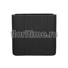 Кашпо Capi lux vase ellips i stripes anthracite