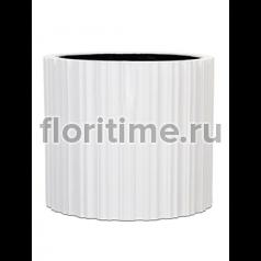 Кашпо Capi lux vase cylinder ii stripes white