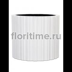 Кашпо Capi lux vase cylinder i stripes white
