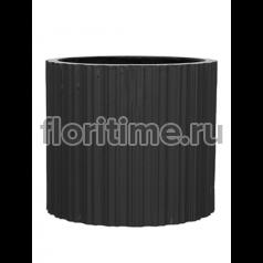 Кашпо Capi lux vase cylinder ii stripes anthracite