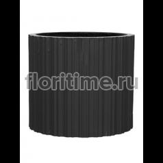 Кашпо Capi lux vase cylinder i stripes anthracite