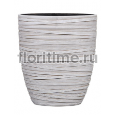 Кашпо Capi nature planter oval iii loop ivory