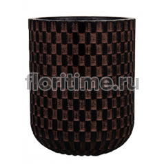 Кашпо Capi nature egg planter high iii wave brown