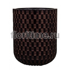 Кашпо Capi nature egg planter high ii wave brown