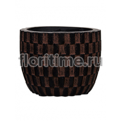 Кашпо Capi nature egg planter iii wave brown