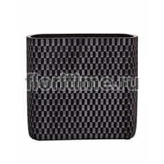 Кашпо Capi nature vase ellips wave iii black
