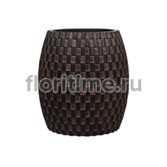 Кашпо Capi nature vase elegant wide iii wave brown