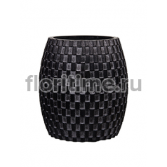 Кашпо Capi nature vase elegant wide iii wave black