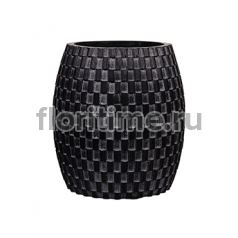 Кашпо Capi nature vase elegant wide ii wave black