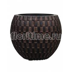 Кашпо Capi nature vase eggplanter iii wave brown