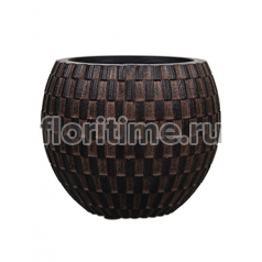 Кашпо Capi nature vase eggplanter i wave brown