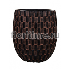 Кашпо Capi nature vase elegant high i wave brown
