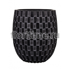 Кашпо Capi nature vase elegant high i wave black