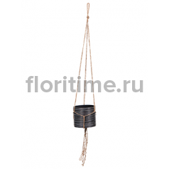 Кашпо Capi nature hanging vase cylinder ii loop black