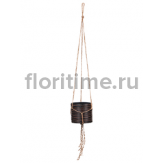 Кашпо Capi nature hanging vase cylinder iii loop brown