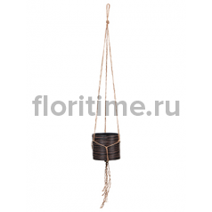 Кашпо Capi nature hanging vase cylinder ii loop brown
