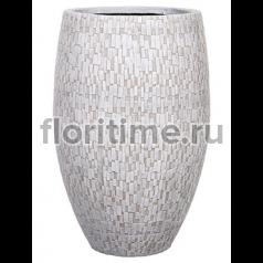 Кашпо Capi nature vase elegant deluxe stone i ivory
