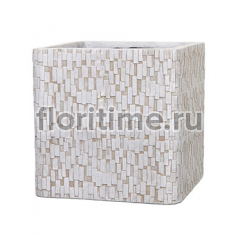 Кашпо Capi nature egg planter square stone ii ivory