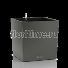 Кашпо Lechuza Cube, антрацитовый металлик