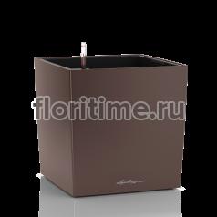 Кашпо Lechuza Cube, кофе металлик