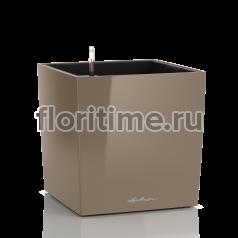 Кашпо Lechuza Cube,серо-коричневый глянец