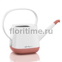 Лейка Yula Lechuza, белый-ярко-розовый