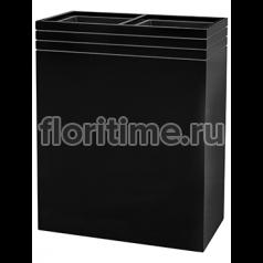 Кашпо Line-up rectangle planter matt black (+2 liners)